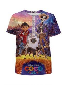 """Футболка с полной запечаткой для мальчиков """"ТАЙНА КОКО МИГЕЛЬ. COCO"""" - гитара, стиль, коко, герои мультфильма, гектор"""