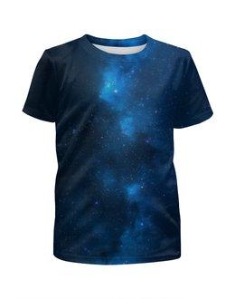 """Футболка с полной запечаткой для мальчиков """"Млечный путь"""" - небо, млечный путь, звёзды"""