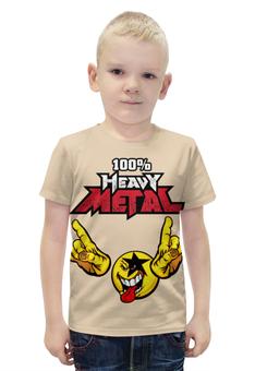 """Футболка с полной запечаткой для мальчиков """"Heavy Metal Art"""" - rock n roll, heavy metal, рок музыка, хеви метал, рок эн ролл"""