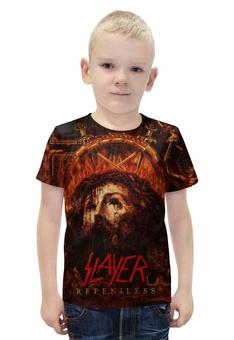 """Футболка с полной запечаткой для мальчиков """"Slayer Repentless 2015 (1)"""" - музыка, рок, металл, slayer, thrash metal"""