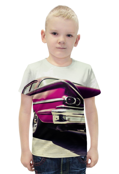 """Футболка с полной запечаткой для мальчиков """"Машина (Шевроле)"""" - авто, машина, 3d, chevrolet, шевроле"""