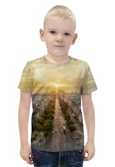 """Футболка с полной запечаткой для мальчиков """"Париж. Елисейские поля"""" - франция, париж, елисейские поля"""