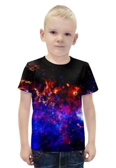 """Футболка с полной запечаткой для мальчиков """"Великий Космос"""" - космос, наука, прогресс, денис гесс, the spaceway"""