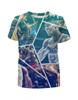 """Футболка с полной запечаткой для мальчиков """"Звезды НБА (NBA Stars)"""" - nba, нба, streetball"""