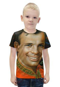 """Футболка с полной запечаткой для мальчиков """"Юрий Гагарин"""" - space, космос, космонавт, юрий гагарин"""