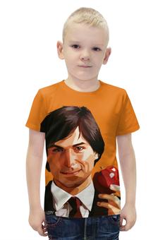 """Футболка с полной запечаткой для мальчиков """"Стив Джобс (Apple)"""" - apple, iphone, steve jobs, pixar"""