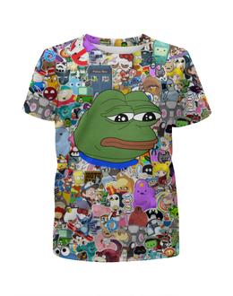 """Футболка с полной запечаткой для мальчиков """"Pepe Frog"""" - мем, meme, грустная лягушка, sad frog, pepe frog"""