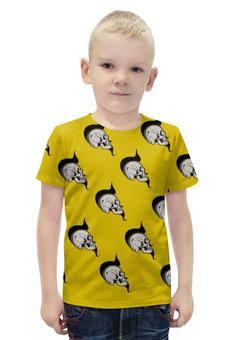 """Футболка с полной запечаткой для мальчиков """"SKULLS"""" - череп, хэллоуин, face, комиксы, хипстер"""