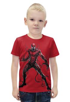 """Футболка с полной запечаткой для мальчиков """"Carnage \ Карнаж (человек-паук)"""" - marvel, spiderman, марвел, человек-паук, карнаж"""