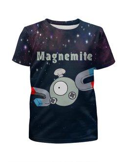 """Футболка с полной запечаткой для мальчиков """"Покемон Магнемайт"""" - pokemon, покемон, магнит, магнемайт, magnemite"""