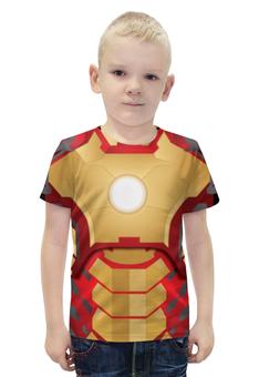 """Футболка с полной запечаткой для мальчиков """"Iron Man"""" - фантастика, железный человек, экшн"""