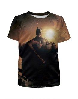"""Футболка с полной запечаткой для мальчиков """"Batman Begins"""" - комиксы, бэтмен, темный рыцарь, dark knight"""