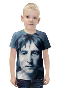 """Футболка с полной запечаткой для мальчиков """"Джон Леннон"""" - музыка, рисунок, битлз, леннон"""