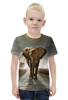 """Футболка с полной запечаткой для мальчиков """"Слон 3D"""" - слон, 3d, elephant"""