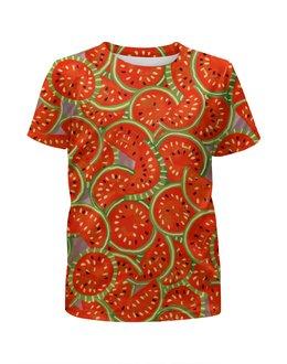 """Футболка с полной запечаткой для мальчиков """"Watermelon summer"""" - арбузы, арбуз, арбузные дольки, лето, жара"""