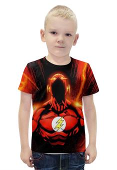 """Футболка с полной запечаткой для мальчиков """"The Flash """" - flash, флэш, быстрейшийчеловекназемле"""