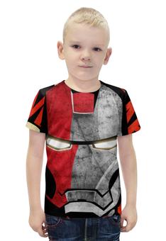 """Футболка с полной запечаткой для мальчиков """"Ironman"""" - железный человек, ironman"""