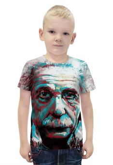 """Футболка с полной запечаткой для мальчиков """"Альберт Эйнштейн"""" - рисунок, физика, эйнштейн"""