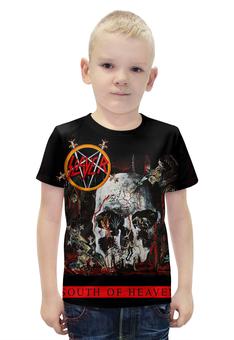 """Футболка с полной запечаткой для мальчиков """"SLAYER South Of Heaven 1988"""" - музыка, рок, металл, slayer, thrash metal"""