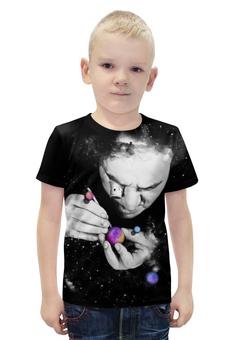 """Футболка с полной запечаткой для мальчиков """"Мастер вселенной"""" - космос, абстракция, галактика"""