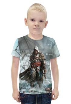 """Футболка с полной запечаткой для мальчиков """"Assassin's Creed"""" - игра, рисунок, ассасин"""