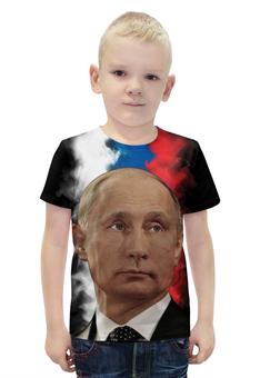 """Футболка с полной запечаткой для мальчиков """"Путин Патриот Страны"""" - россия, russia, путин, putin"""