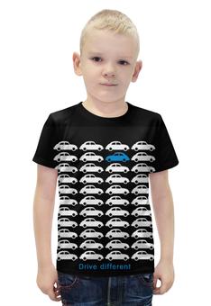 """Футболка с полной запечаткой для мальчиков """"Машинки"""" - абстракция"""