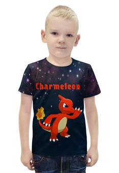 "Футболка с полной запечаткой для мальчиков ""Покемон Чармелеон"" - pokemon, покемон, чармелеон, charmeleon"