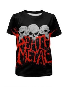 """Футболка с полной запечаткой для мальчиков """"Death Metal"""" - skull, черепа, кровь, blood, death metal"""