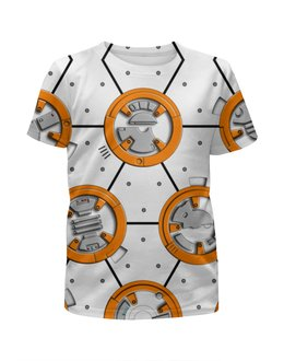 """Футболка с полной запечаткой для мальчиков """"Star Wars Design (BB8)_"""" - фантастика, робот, звездные войны, дроид, киноманам"""