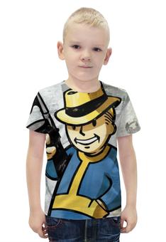 """Футболка с полной запечаткой для мальчиков """"Vault Boy (Fallout)"""" - fallout, vault boy"""