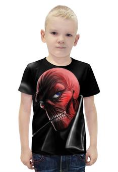 """Футболка с полной запечаткой для мальчиков """"Красный Череп"""" - марвел, красный череп, red skull"""