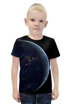 """Футболка с полной запечаткой для мальчиков """"World"""" - планета, world, earth, земля, planet"""