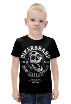 """Футболка с полной запечаткой для мальчиков """"Bikerbrand"""" - skull, череп, мотоцикл, bike, bikebrand"""