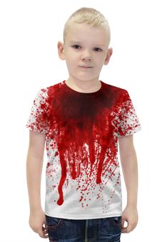 """Футболка с полной запечаткой для мальчиков """"Счастливого хеллоуина"""" - хэллоуин, зомби, ужас, monster, монстр"""
