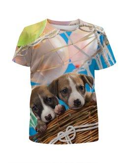 """Футболка с полной запечаткой для мальчиков """"Собаки"""" - собака, фотография, животное"""