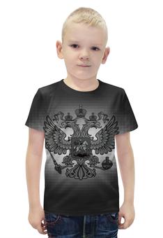 """Футболка с полной запечаткой для мальчиков """"Россия"""" - россия, герб, russia, орёл"""