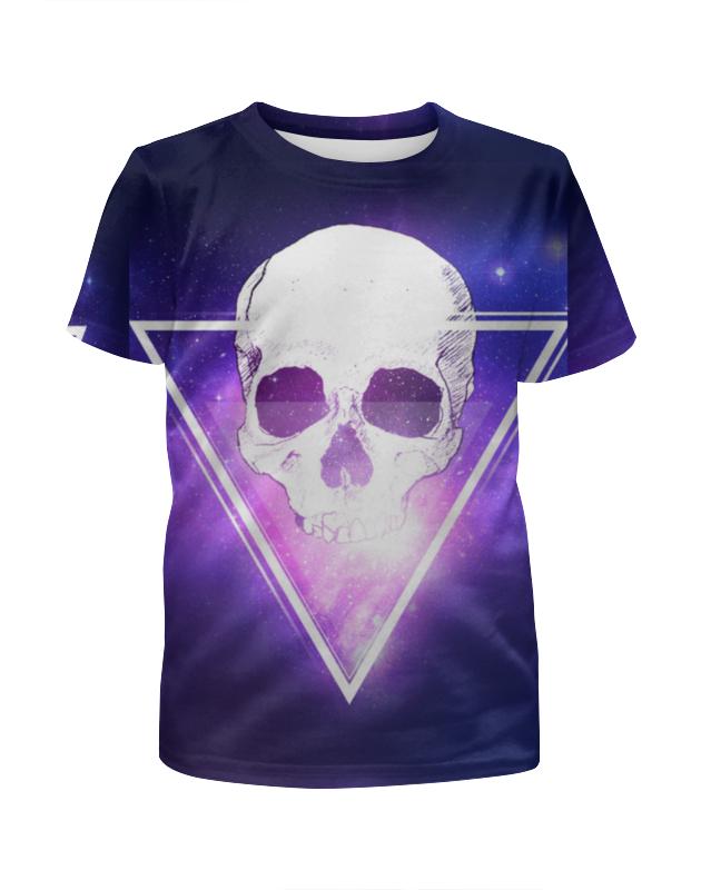 Printio Череп и треугольник футболка с полной запечаткой для девочек printio космический треугольник