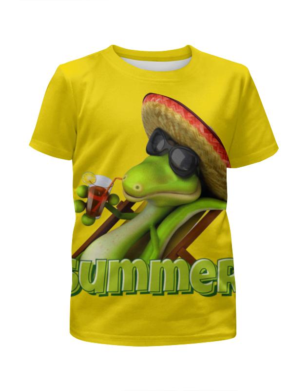 Printio Дракончик на отдыхе футболка с полной запечаткой для девочек printio на отдых