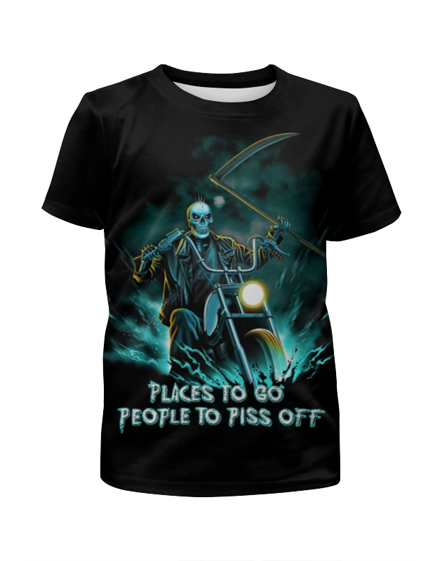Футболка с полной запечаткой для девочек Printio Skull rider футболка с полной запечаткой для девочек printio skull art