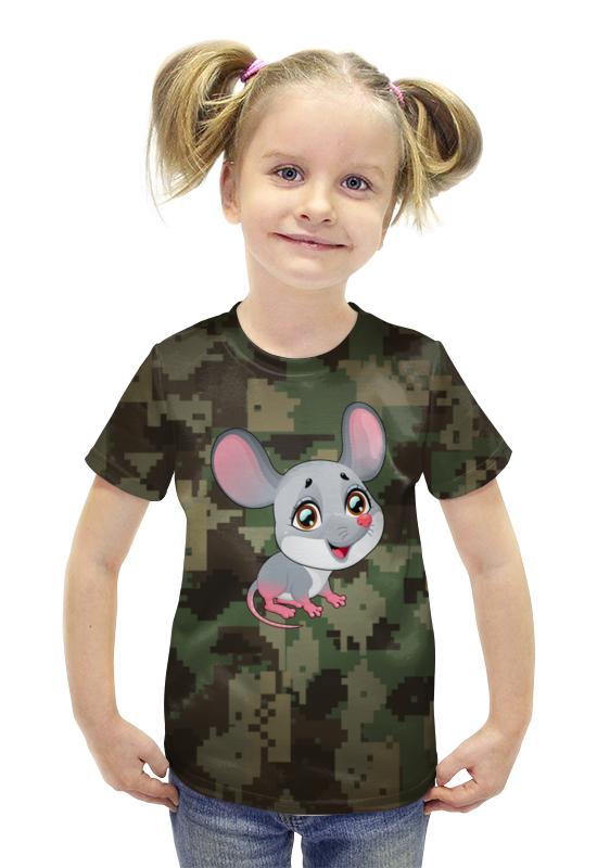 Футболка с полной запечаткой для девочек Printio Мышонок футболка с полной запечаткой для девочек printio spawn