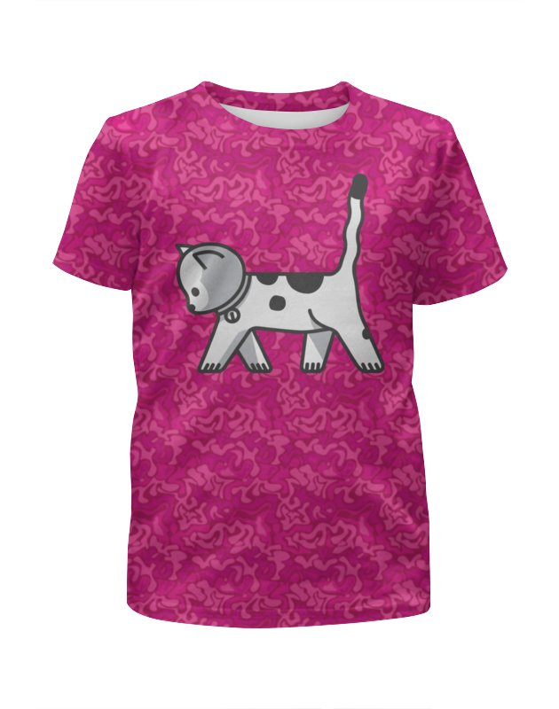 Футболка с полной запечаткой для девочек Printio Милый котёнок футболка с полной запечаткой для девочек printio дом милый дом