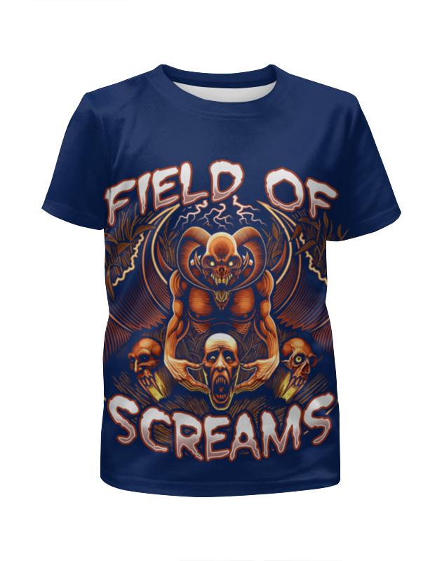 Футболка с полной запечаткой для девочек Printio Field of screams training of field functionaries