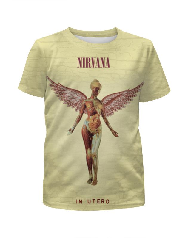 Футболка с полной запечаткой для девочек Printio Nirvana in utero майка классическая printio nirvana in utero t shirt