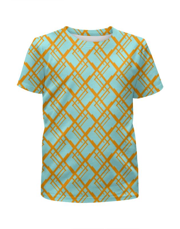 Футболка с полной запечаткой для девочек Printio Оранжевая клетка футболка с полной запечаткой женская printio клетка оранжевая