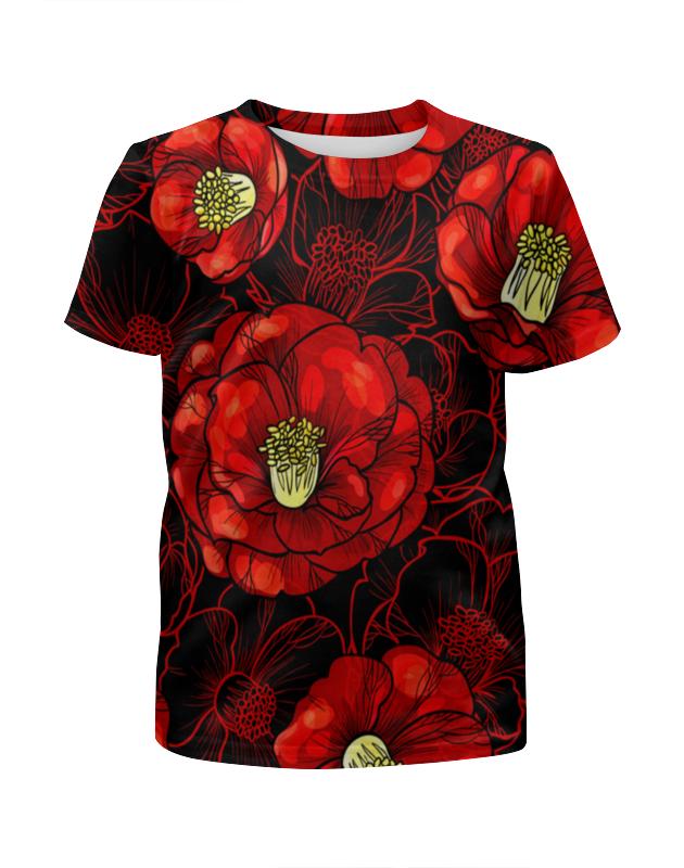 Футболка с полной запечаткой для девочек Printio Цветы мака футболка с полной запечаткой printio цветы любви