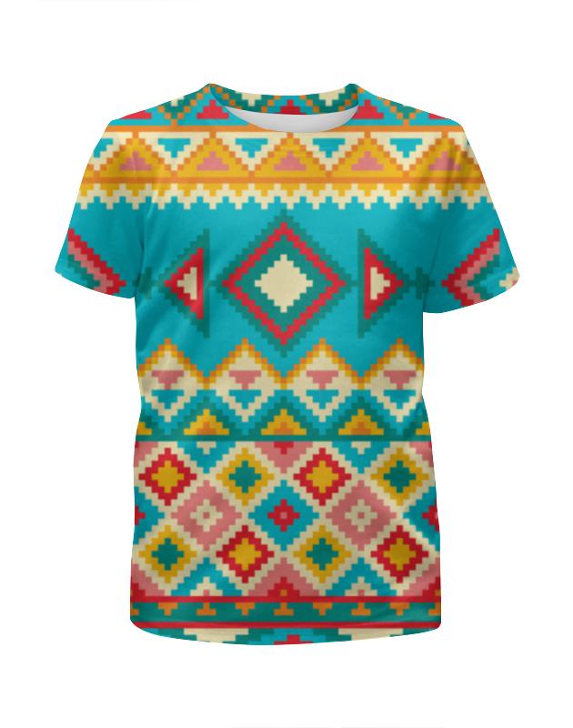 Футболка с полной запечаткой для девочек Printio Этнический узор футболка с полной запечаткой для девочек printio пртигр arsb
