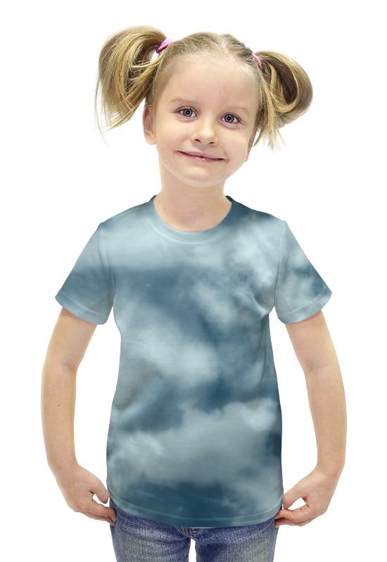 Футболка с полной запечаткой для девочек Printio Облака футболка с полной запечаткой для девочек printio пртигр arsb
