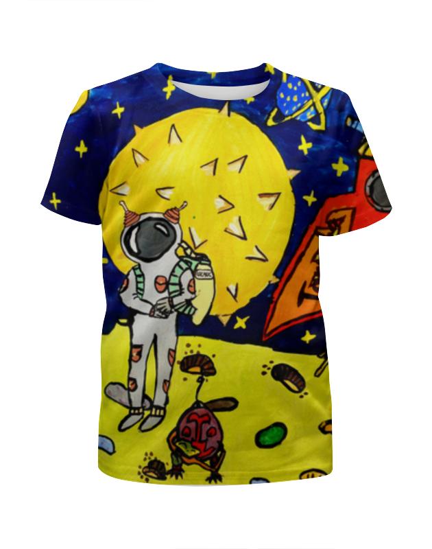 Футболка с полной запечаткой для девочек Printio Дети мечтают о космосе блузка женская zarina цвет розовый 8224507407094 размер xl 50