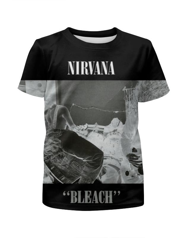 Футболка с полной запечаткой для девочек Printio Nirvana bleach full print футболка print bar shawn crahan